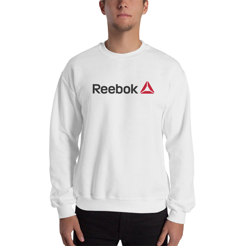 Reebok sweatshirt Reebok Branded Sweatshirt Reebok logo Sweatshirt crew neck White full-sleeve Sweatshirt for men