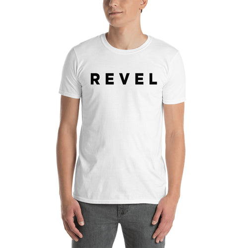 Revel T shirt White Revel Logo T shirt Branded T shirt for Men