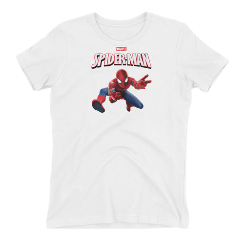 Spiderman T shirt SuperHero T shirt short-sleeve White Cotton T shirt for women