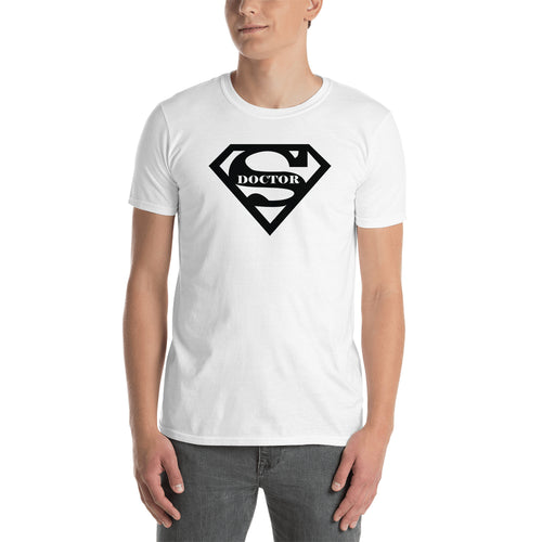 Super Doctor T shirt White Doctor T shirt Half-sleeve Cotton T shirt for Medical Students