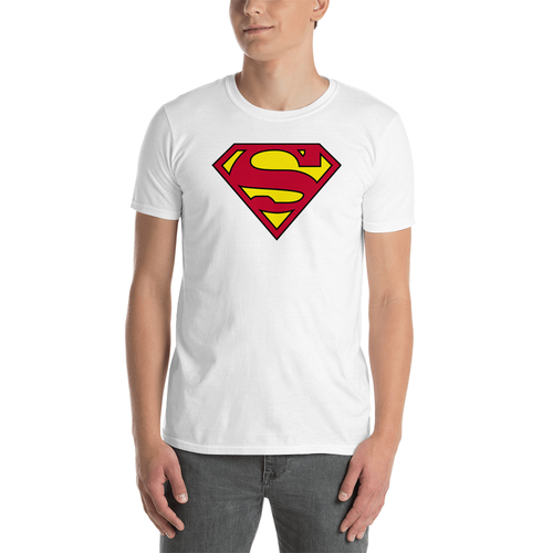 superman t shirt white for men