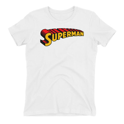 Superman T shirt Cool Superman T shirt White Half Sleeve Cotton T shirt for women