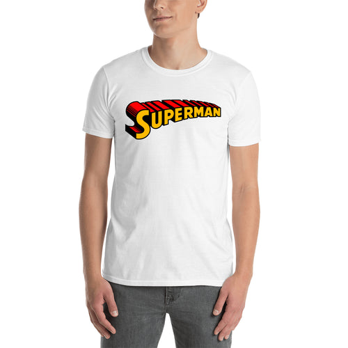 Superman T shirt Cool Superman T shirt White Half Sleeve Cotton T shirt for men