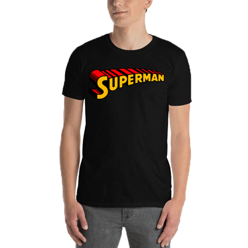 Superman T shirt Cool Superman T shirt Black Half Sleeve Cotton T shirt for men