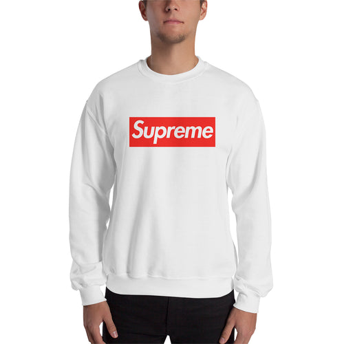 Supreme sweatshirt Supreme Brand Sweatshirt Supreme Logo Sweatshirt crew neck White full-sleeve Sweatshirt for men