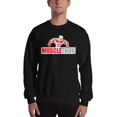 Muscle Thug Sweatshirt Gym Sweatshirt Black Full-sleeve Muscles Sweatshirt for men