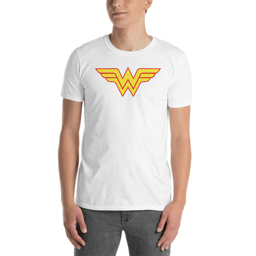 Wonder women T shirt SuperHero T shirt White short-sleeve Cotton T shirt for men