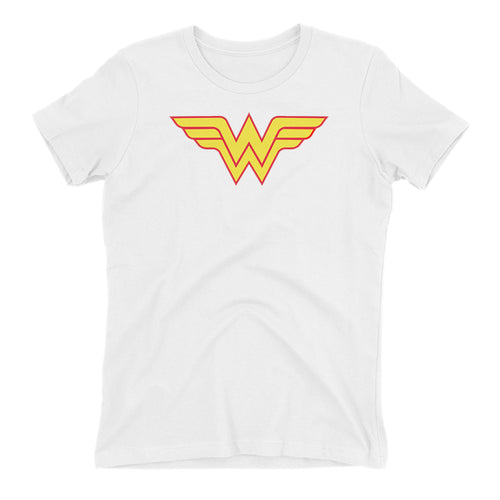 Wonder women T shirt DC T shirt White short-sleeve Cotton T shirt for women