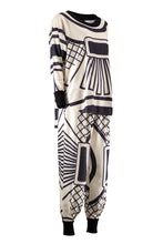 SHERONA Cream black print