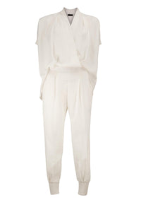 STYLER Ivory Sueded linen look