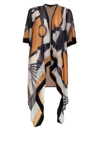 WATERFALL Toffee Print