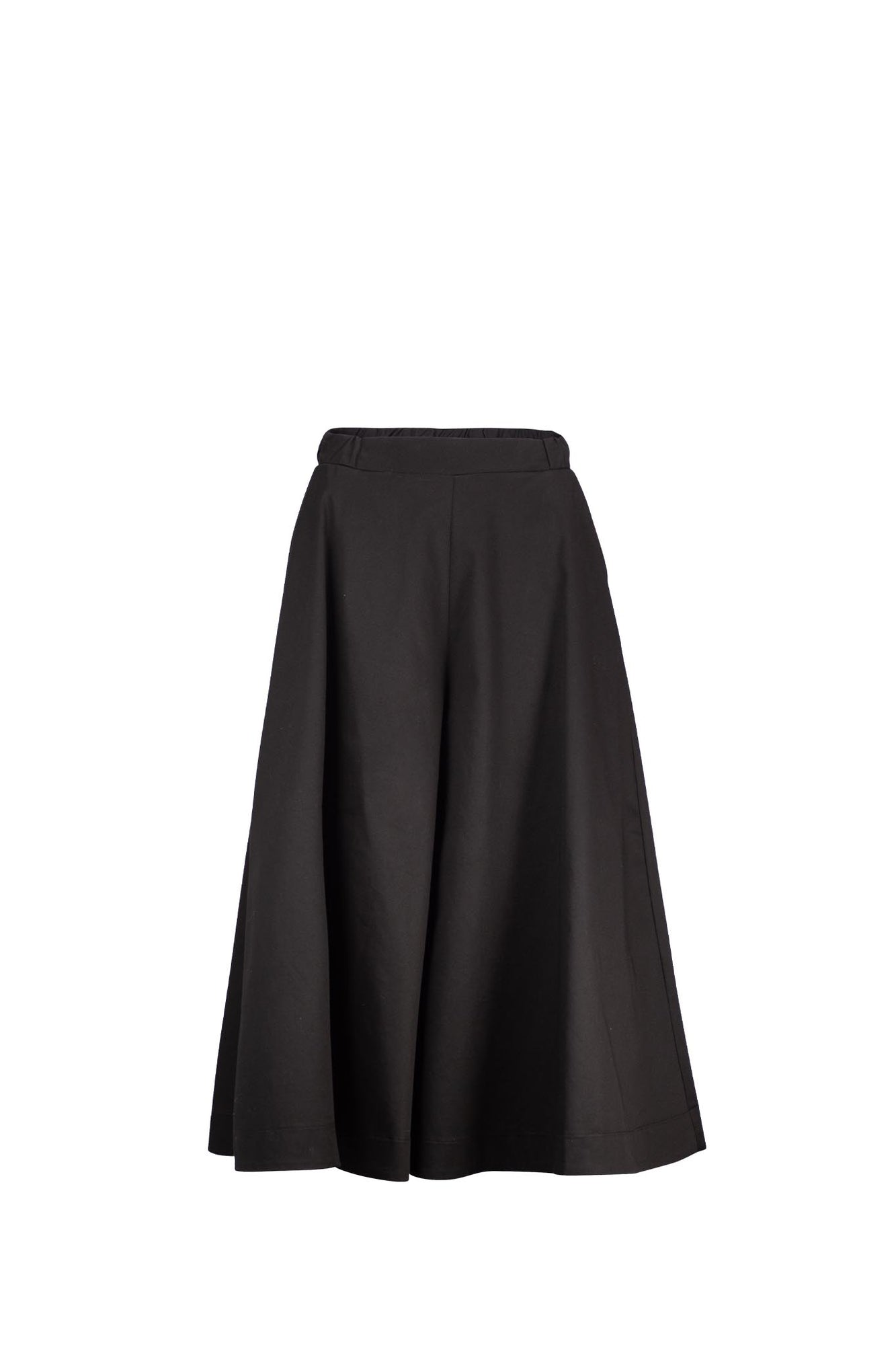 FELIX Black cotton spandex twill
