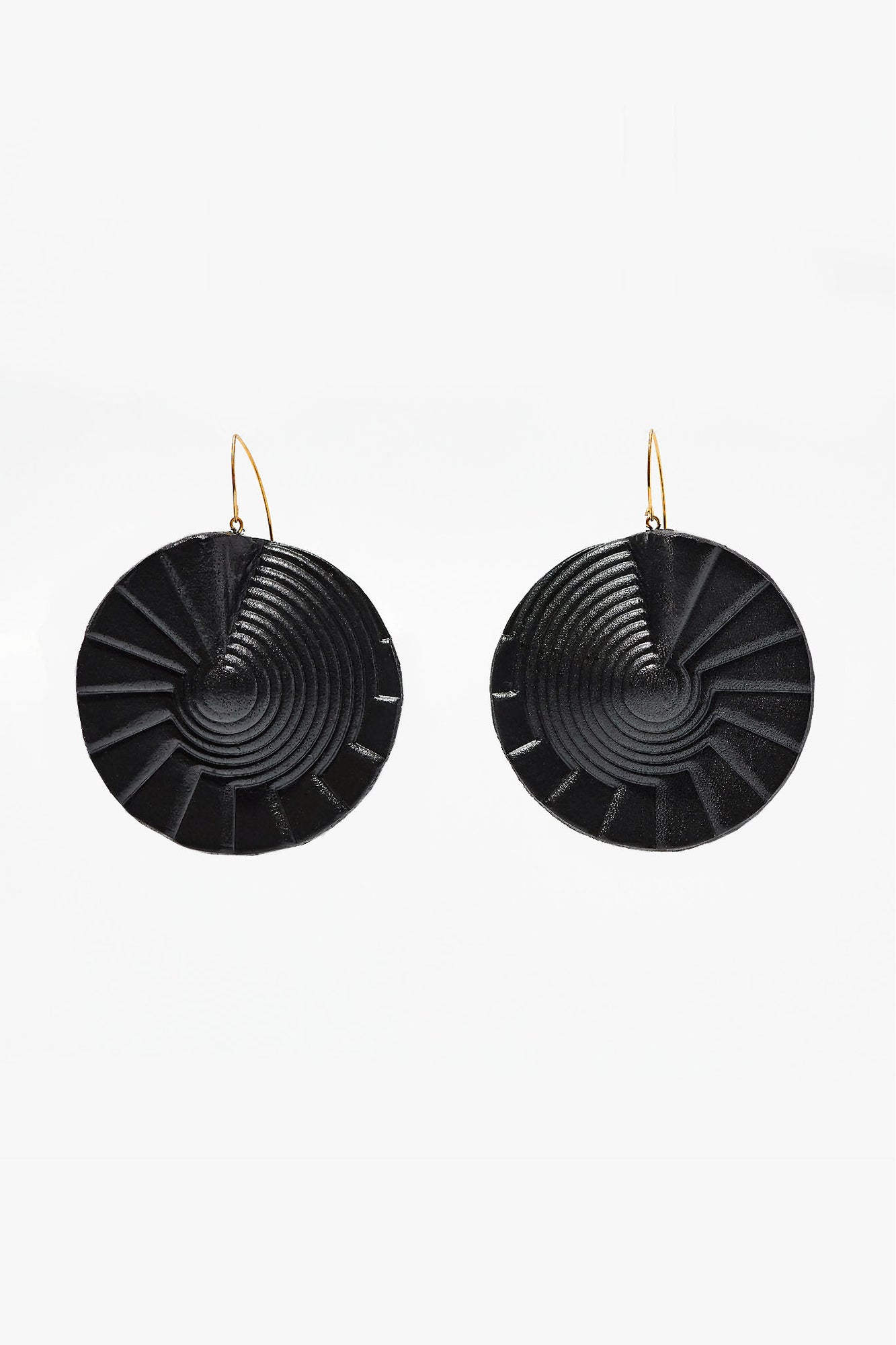 Spiral Earrings Black