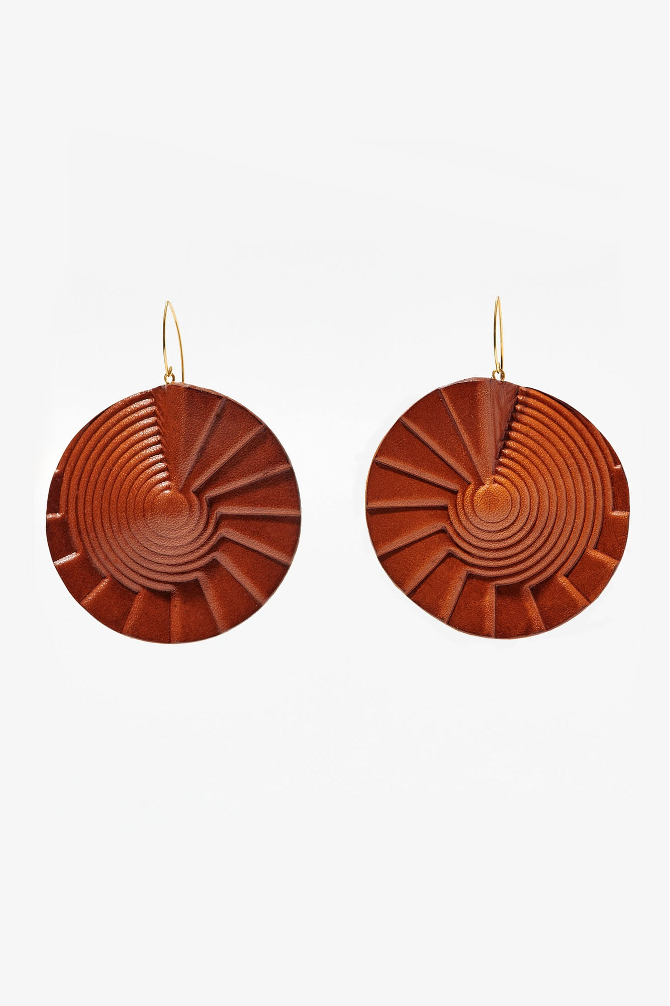 Spiral Earrings Tan