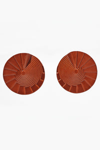 Spiral Earrings Large Tan