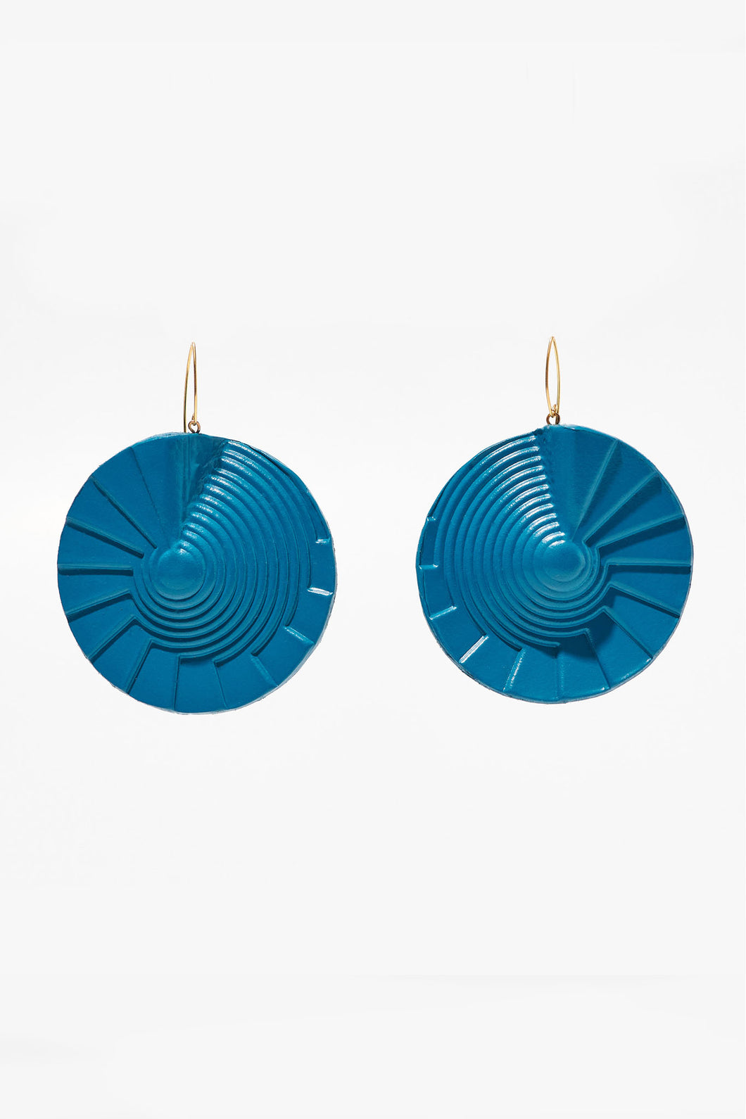 Spiral Earrings Teal