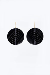 Circle Earrings Black