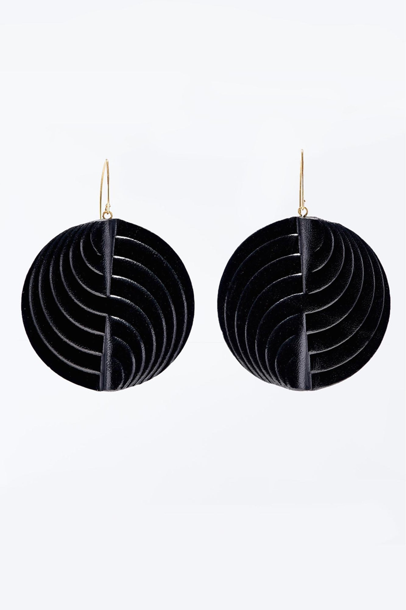 Circle Earrings Large Black
