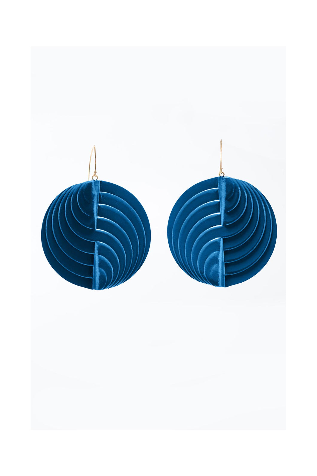 Circle Earrings Teal