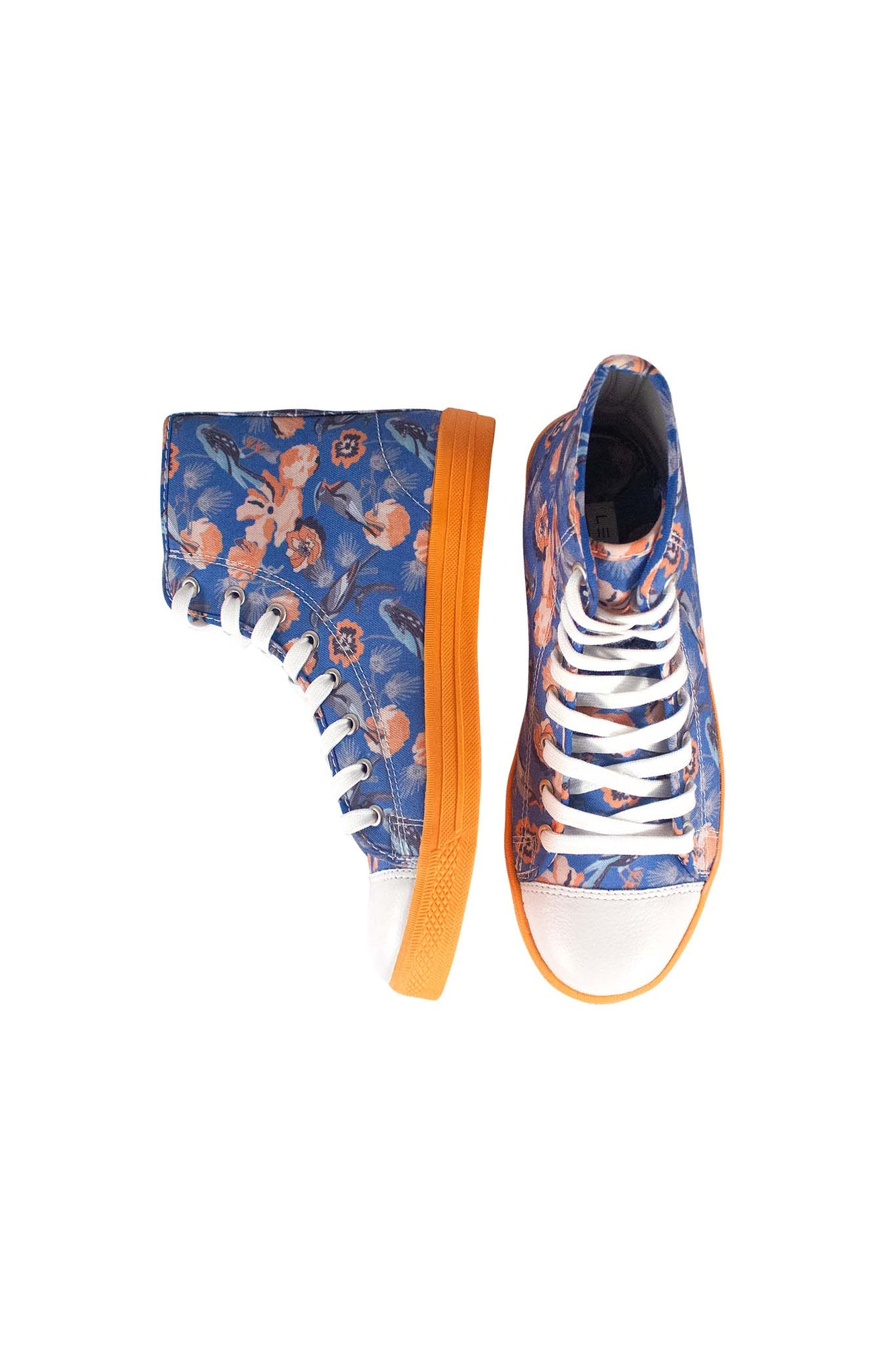 KEYES Hightop Sneakers Blue Bird Print