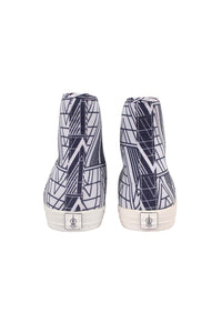 KEYES Hightop sneakers white triangle print