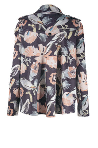 MARISSA Bird Print Black