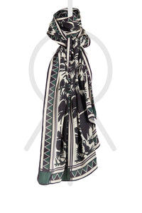 SCARF ANIMAL Black & Green