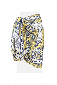SCARF Yellow Navy print