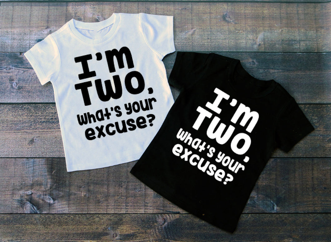 Im Two Boys Birthday Shirt