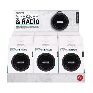 Wireless Shower Speaker & Radioin Black