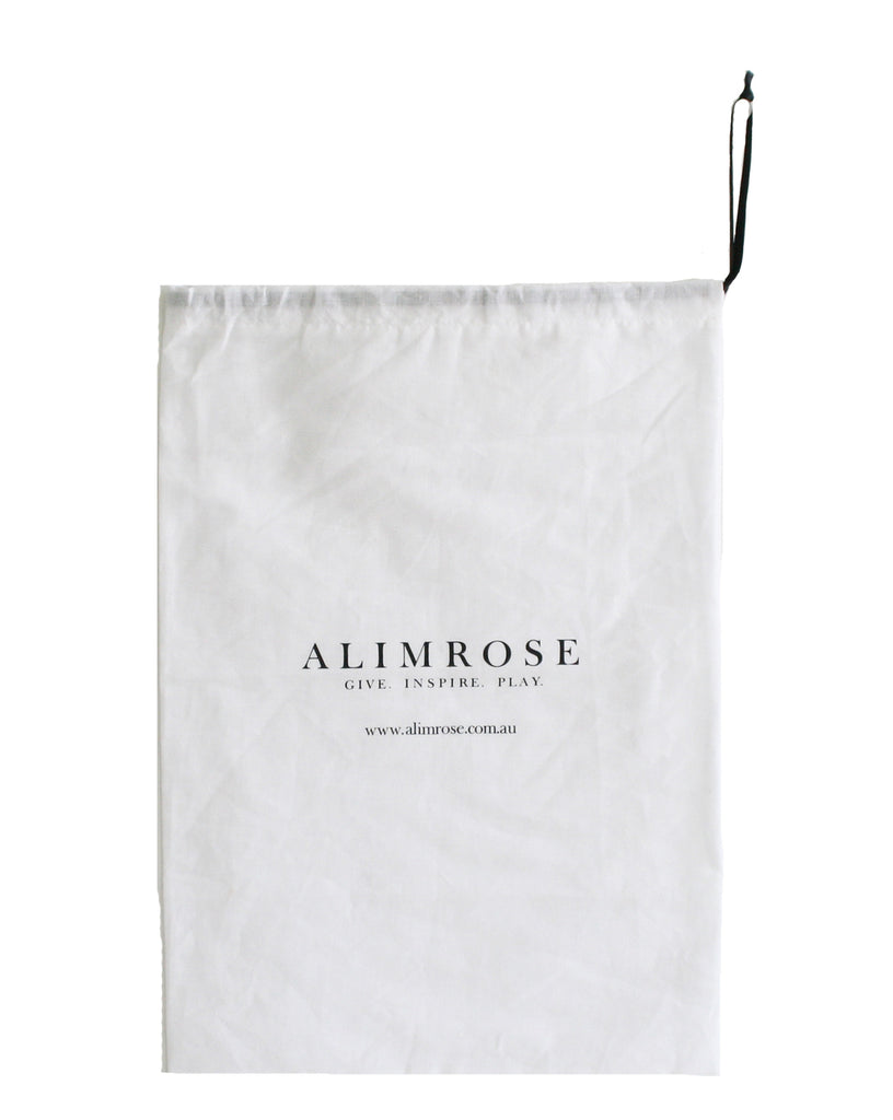 Gift Bags ( Alimrose Products only) in White Cotton , Medium Size