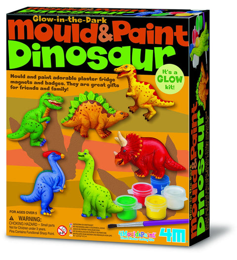 Johnco Mould & Paint Dinosaurs   Glow in the dark kit