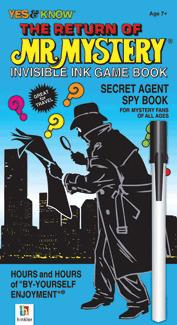 Johnco The Return of the Mr Mystery   Secret Agent Spy Book   Invisible Ink