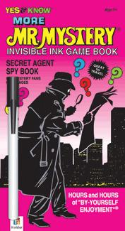 Johnco More Mr Mystery   Secret Agent Spy Book  Invisible Ink