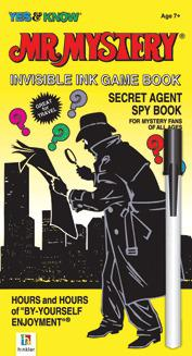 Johnco Mr Mystery   Secret Agent Spy Book  Invisible Ink