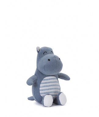Hugo The Hippo Baby Rattle 15cm x 14cm sitting