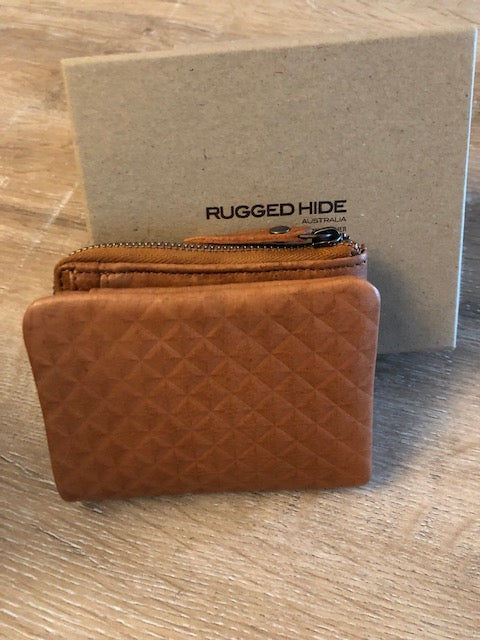 Rugged Hide Ladies Soft Leather Wallet - Sofia in Tan Colour