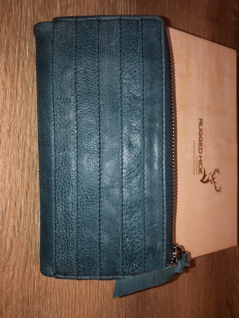 Rugged Hide Ladies Leather Wallet - Katie in Jeans Colour