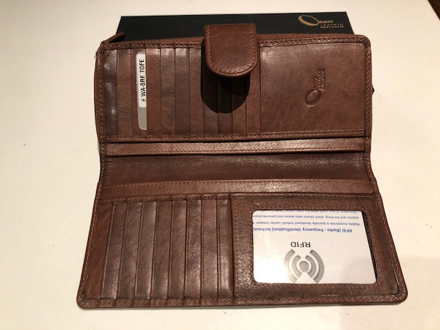 Oran Leather Ladies Wallet -RIA In Toffee Colour