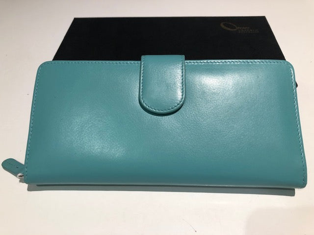 Oran Leather Ladies Wallet - RIA in Turquoise Colour