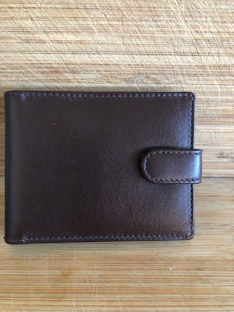 Oran Leather Card Holder in Brown Colour