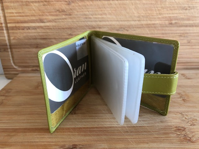 Oran Leather Card Holder - Green in Colour