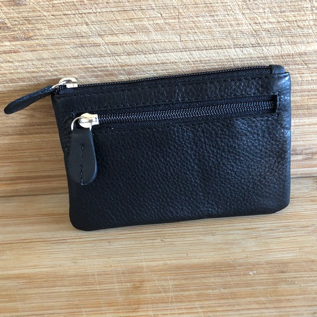 Oran Leather Key Case/Purse - Black in Colour
