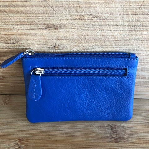 Oran Leather Key Case and Coin Purse in Cobalt Colour