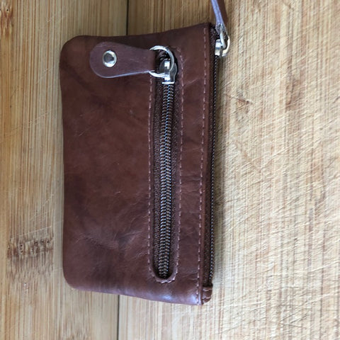 Oran Leather Key Case and Coin Purse in Brown Colour