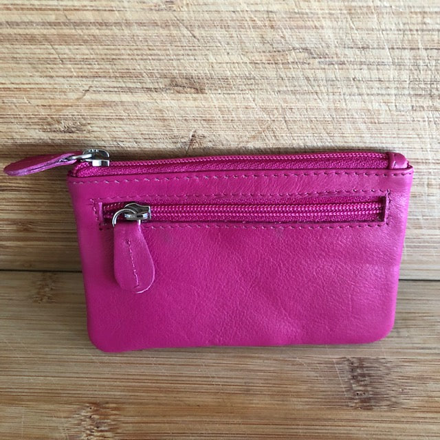 Oran Leather Key Case and Coin Purse Saba in Pink Colour
