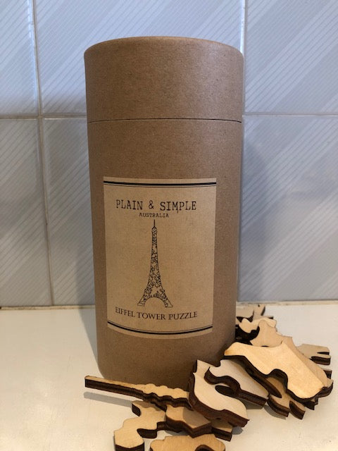 Jigsaw Wooden Puzzle - EIFFEL TOWER by Plain & Simple Australia