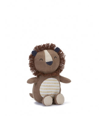Leroy The Lion Rattle 16cm x 14cm sitting