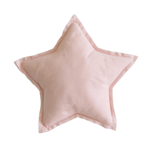 Linen Star Pillow in Soft Pink - 40cm