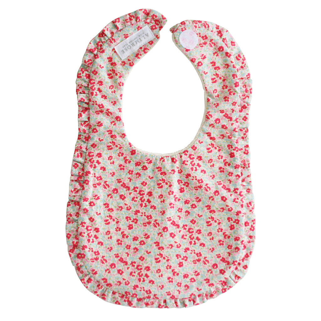 Bib - Ruffle Edge Bib in Sweet Floral
